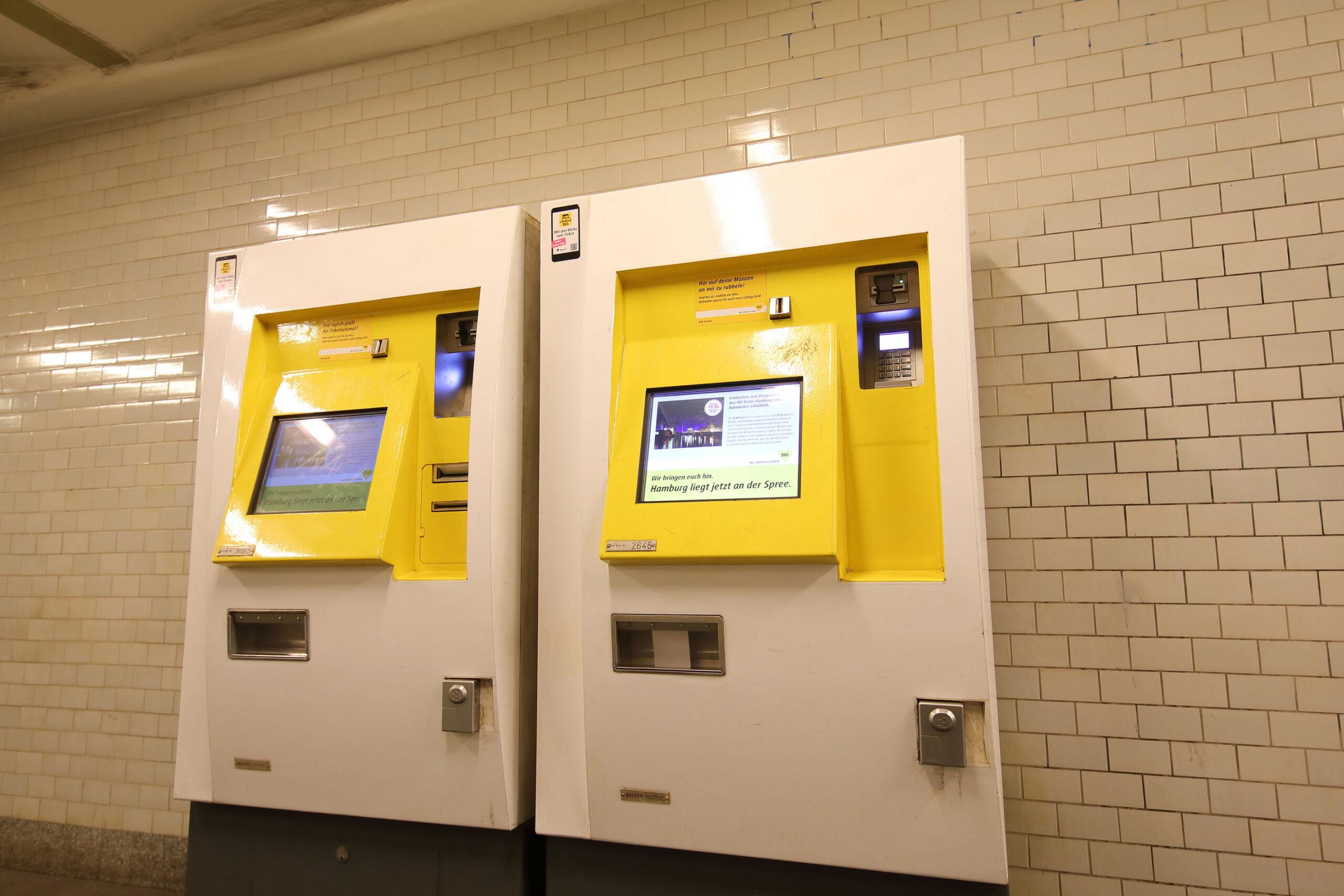 Berlin billetter billettautomat Tyskland kollektivtrafikk T-bane